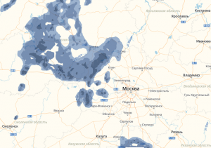 Погода в Москве онлайн, карта гроз и карта осадков над столицей
