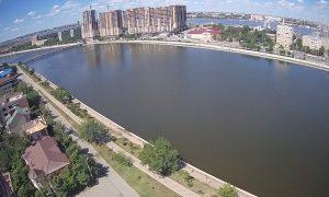 Улица Набережная Приволжского Затона в Астрахани