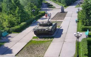 Танк Т-72 в Парке Победы в Бийске