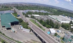 Иркутный мост в Иркутске