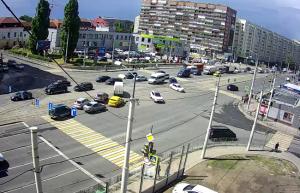Перекресток улиц Фрунзе и 9 Апреля в Калининграде