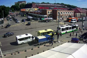 Перекрёсток улиц Горького и Черняховского в Калининграде