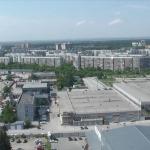 Академгородок из здания Технопарка в Новосибирске