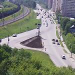 Перекресток улиц Первомайская и Героев Революции в Новосибирске