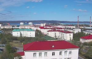 Панорама Североморска в Мурманской области