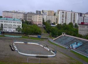 Стадион в Североморске