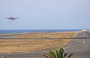 Аэропорт на острове Лансароте в Испании