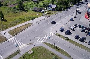 Перекрёсток улиц Новокирпичная и Бумажников в Кондопоге