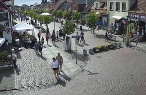 Главная улица Леба в Польше
