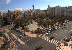 Ратушная площадь в Валенсии
