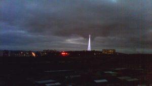 Веб камера Мурманск, Святящаяся ТВ башня, панорама города