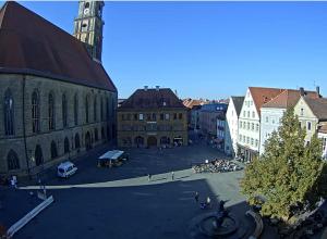 Рыночная площадь в городе Амберг
