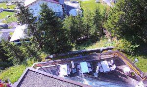 Вид из отеля Burgwald в Австрии