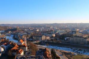 Старый город Вильнюса из отеля Radisson Blu Lietuva