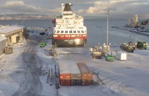 Порт города Тронхейм в Норвегии