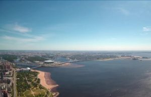 Панорама Санкт-Петербурга с небоскреба Лахта-центр