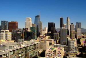 Даунтаун Лос-Анджелеса в Калифорнии