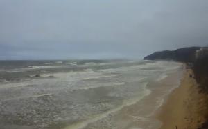 Восточная часть пляжа в Мендзыздрое