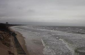 Пляж города Мендзыздрое в Польше