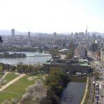 Панорама города Фукуока в Японии