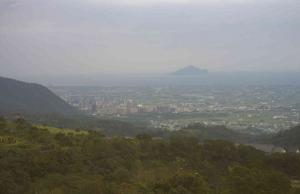 Панорама города Илань в Тайване