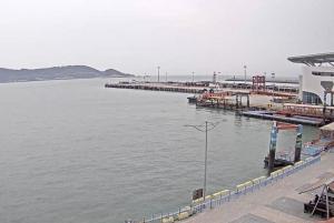 Морской порт на острове Nangan в Тайване