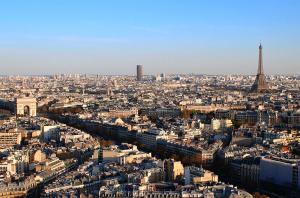 Центр Парижа из отеля Hyatt Regency Paris Etoile