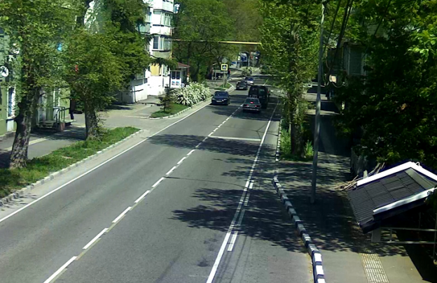 Улица Богдана Хмельницкого в Туапсе