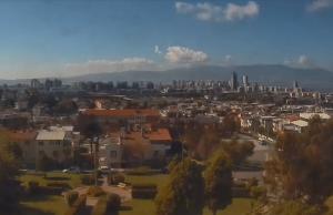 Панорама города Измир в Турции
