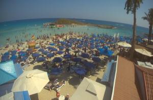 Пляж Нисси Бич на курорте Айя Напа