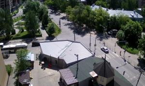 Пересечение проспекта Пацаева и Лихачевского шоссе в городе Долгопрудный