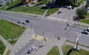 Пересечение улиц Спортивная и Новый бульвар в городе Долгопрудный