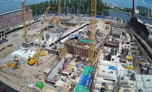 Строительство ЖК «Эталон на Неве» в Санкт-Петербурге