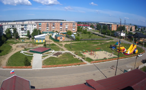 Центр поселка Мегет