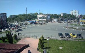 Перекресток улиц Промышленная и Рябикова в Ульяновске