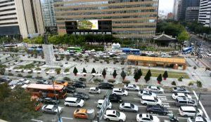 Площадь Кванхвамун в Сеуле