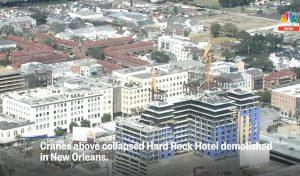 Снос отеля Hard Rock в Новом Орлеане
