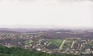 Панорама города Порту-Алегри в Бразилии