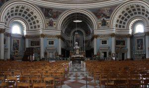 Внутреннее убранство собора Ротонда Моста на Мальте