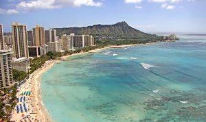 Гонолулу и пляж Вайкики из отеля Sheraton Waikiki