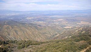 Вид с пика Сантьяго в Калифорнии