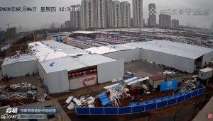 Строительство госпиталя «Лейшэньшань» в Ухане