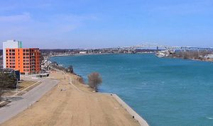 Город Порт-Гурон в Мичигане