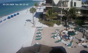 Пляж Лидо Ки в Сарасоте из отеля Limetree Beach Resort
