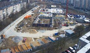 Строительство школы на Бородинском бульваре в Подольске