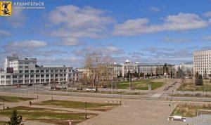 Площадь Ленина в Архангельске