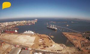 Морской порт Монтевидео в Уругвае