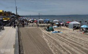 Пляж Васага Бич в Канаде