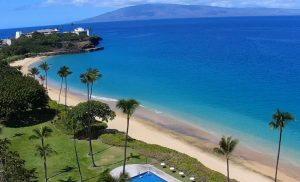 Пляж Кахекили Бич из отеля Royal Lahaina