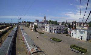 Железнодорожный вокзал Сухума в Абхазии